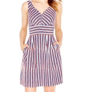 Striped Dress with Hip Pockets by Mason Jules